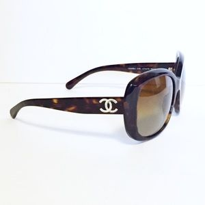 Chanel tortoise polarized 5183 sunglasses